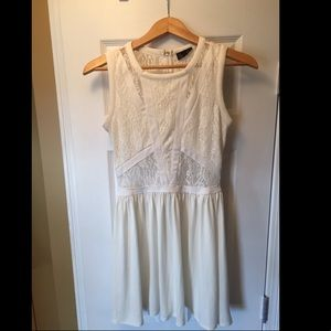 Topshop Cream Lace Dress